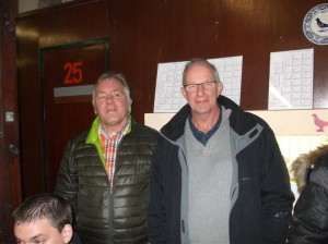 Hier met vriend Lamert Meijberg.