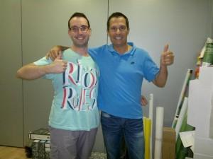 Friends  Gerard Marti  and  David Serano from  Spain. Barcelona.