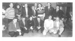 Foto Eijerkamp Team 5e van rechts Dr H v/d Sluis. Rein Spiek. H Eijerkamp. Onderste rij Henk Juriens.Anton Witjes. Vincent Jansen Mijn oudste zoon. Frank Dokman. laatste rechts Kees Hilverink. 1993