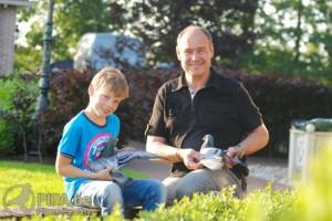 Pieter met zijn zoon Aant Arjen